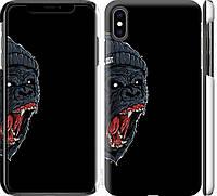 """Чехол на iPhone XS Max Обезьяна в яросте """"4137c-1557-18924"""""""