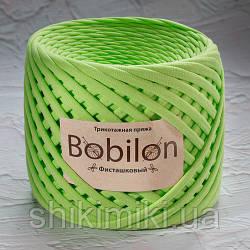 Трикотажная пряжа Bobilon (5-7 мм), цвет Фисташковый