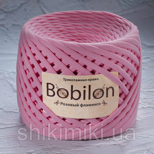 Трикотажная пряжа (5-7 мм), цвет Розовый Фламинго