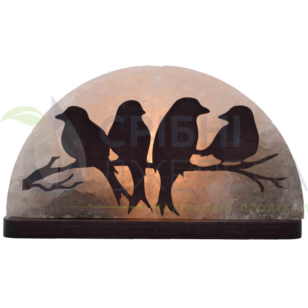 Соляна лампа Пташки на гілці, 1,5 кг