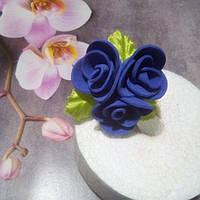 """Шпилька """"фиолетовые розы"""""""
