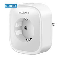 Умная wi-fi розетка BlitzWolf BW-SHP2 умный дом 16A c мониторингом энергопотребления вольтметр, таймер