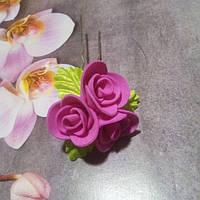 """Шпилька """"сереневая роза"""""""