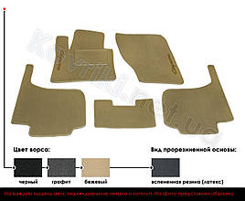 Велюровые (тканевые) коврики в салон Audi 100 A6