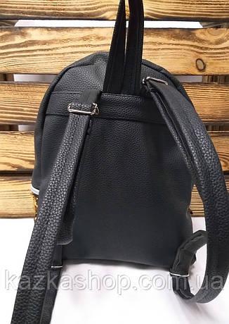 Рюкзак с разноцветными паетками, один отдела, материал кожзам черного цвета, фото 2
