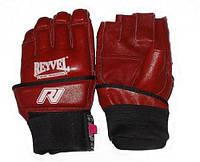 REYVEL Перчатки Микс файт/ кожа / Красный  размер  L  XL