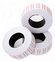Этикет-лента белая однорядная 12*22 мм.прямая PM-1000