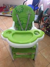 Стульчик для кормления, трансформер 3в1, BAMBI M 1563-5 бело-зеленый, фото 3