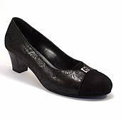 Туфли лодочка большой размер женская обувь Pyra Silver BS Black Lether Scales by Rosso Avangard цвет черный