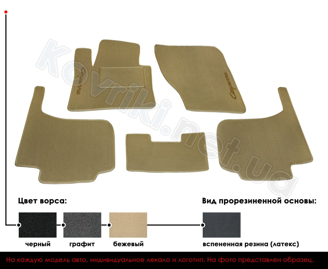 Велюровые (тканевые) коврики в салон ВАЗ 2114