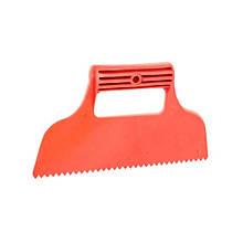 Шпатель пластиковый 230 мм зубчатый INTERTOOL KT-2811