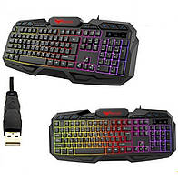 Клавиатура проводная HAVIT HV-KB406L GAMING USB black с подсветкой