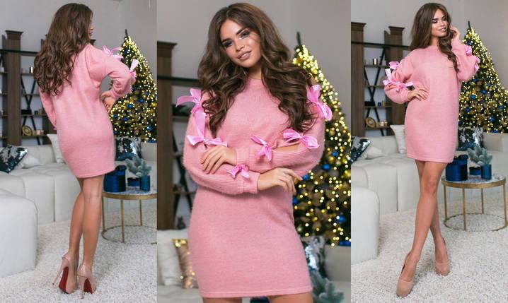 """Ангоровое платье-туника """"BERTY"""" с бантами на рукавах (5 цветов), фото 2"""
