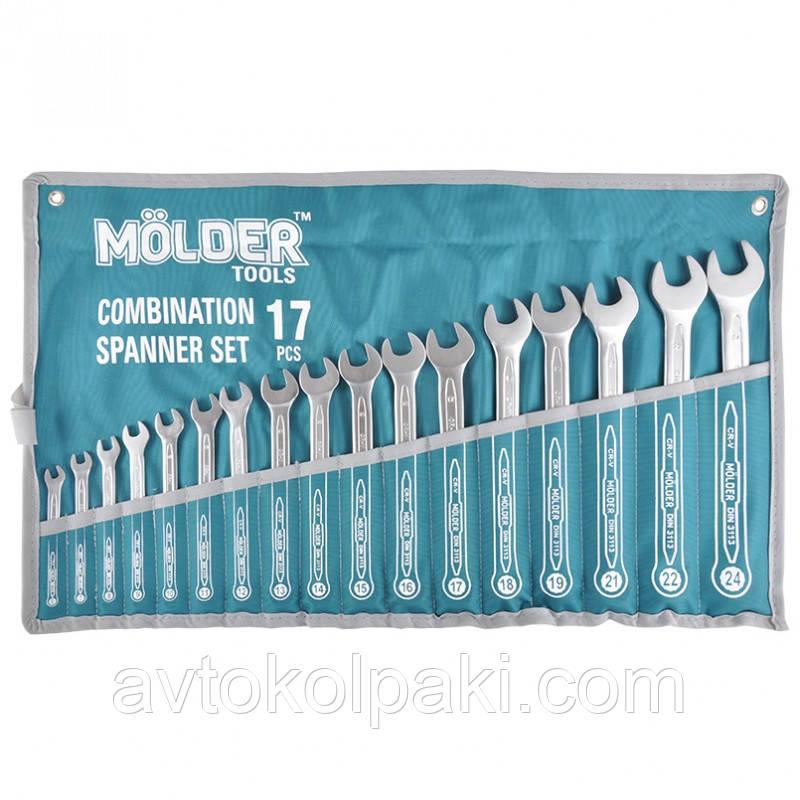 Набор ключей комбинированных MOLDER CR-V 6-24 мм 17 шт