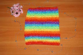 ТОП-сетка для плаття туту цвет полоска радужна
