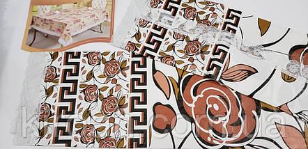 Клеенчатая скатерть намягкой флизелиновой основе 110х140 (110308), фото 3