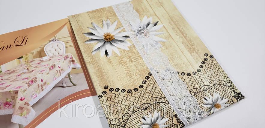 Клеенчатая скатерть на мягкой флизелиновой основе 110х140 (110309), фото 2