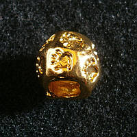Бусина Pandora (Пандора) позолоченная, бочкообразная, лапки