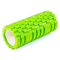 Валик (ролик, роллер) массажный для спины и йоги (MS 0857) салатовый