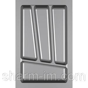 Лоток для столових приладів Verso 350 мм Сірий 280x430x42 мм