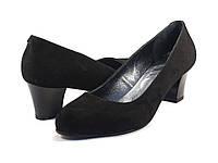 Туфли классические замшевые лодочка большой размер женская обувь Puro Black Vel BS by Rosso Avangard, фото 1