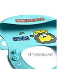 Детский слюнявчик нагрудник силиконовый с карманом King of cutenes, фото 3