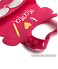 Детский слюнявчик нагрудник силиконовый с карманом Love mama, фото 3