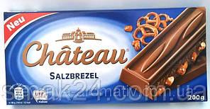 Шоколад молочный  с солеными кренделями Chateau Германия 200г