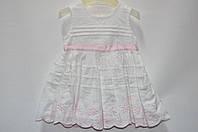Платье белое 0-3 мес (Д)