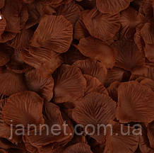 Набор коричневых лепестков роз - 100шт.