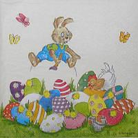 """№ 14 Салфетка для декупажа или сервировки стола """"Пасхальный кролик"""""""
