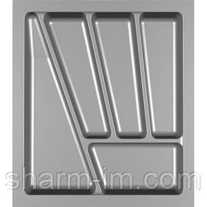 Лоток для столових приладів Verso 450 мм Сірий 380x430x42 мм
