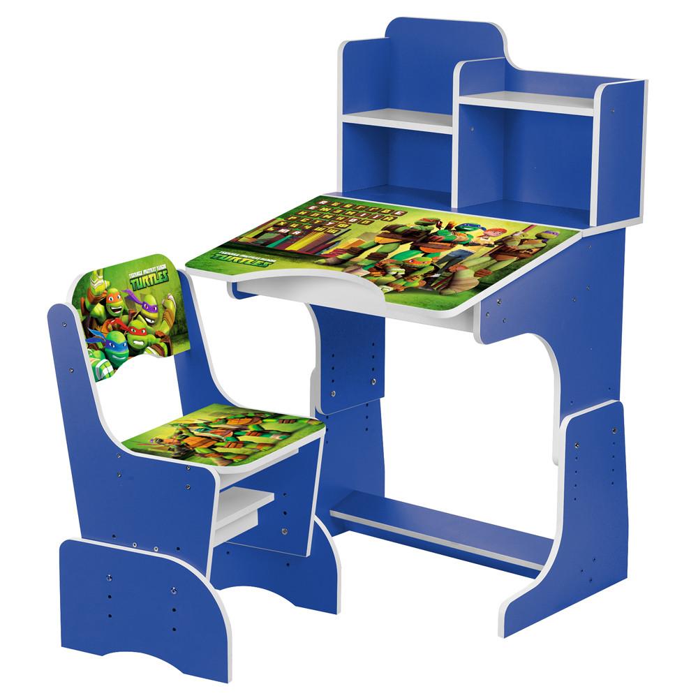 Детская парта со стульчиком W 2071-68-5 Черепашки Ниндзя Синяя Гарантия качества Быстрая доставка