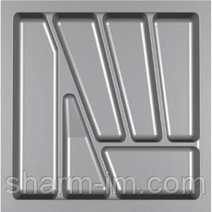 Лоток для столових приладів Verso 500 мм Сірий 430x430x42 мм