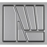 Лоток для столових приладів Verso 550 мм Сірий 480x430x42 мм, фото 1
