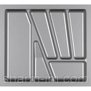 Лоток для столових приладів Verso 550 мм Сірий 480x430x42 мм