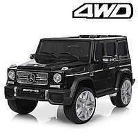 Электромобиль детский, джип в стиле Мерседес-Бенц G-Класс M 3567EBLRS-2(4WD) 4 мотора | Черный