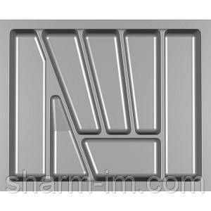 Лоток для столових приладів Verso 600 мм Сірий 530x430x42 мм