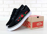 Кеды женские Vans Old Skool Art Black Flowers