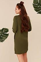 """Короткое трикотажное платье-туника """"SORT"""" со шнуровкой и карманами (4 цвета), фото 2"""