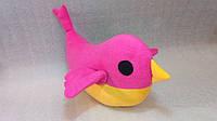 Мягкая игрушка-подушка ручной работы Птичка