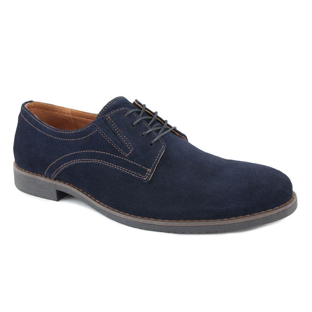 Замшевые мужские туфли на шнурках 40-45