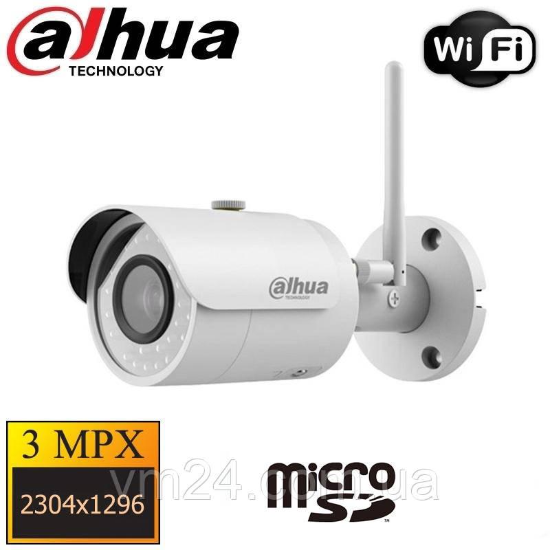 IP Камера 3МП  Wi-Fi  видеокамера Dahua DH-IPC-HFW1320S-W