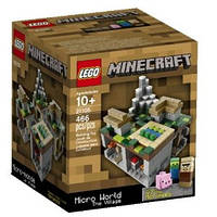 Конструктор Лего Майнкрафт Микро Мир Деревня,Lego Minecraft 21105 Micro World The Village .  , фото 1