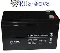 Аккумуляторная батарея АКБ 7 A/ч, 12 В, размер: 65х95х151 мм.