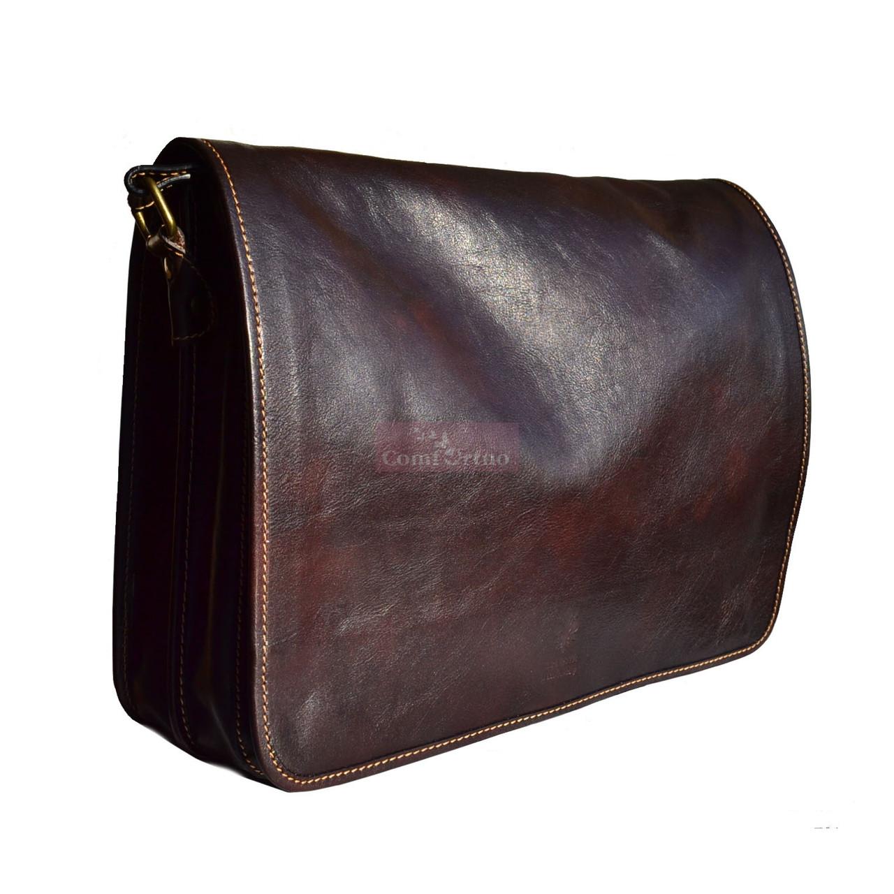 0be4e508ea9a Мужская кожаная сумка-мессенджер Italian fabric bags 1034 -  Интернет-магазин товаров для дома