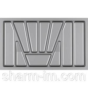 Лоток для столових приладів Verso 800 мм Сірий 730x430x42 мм