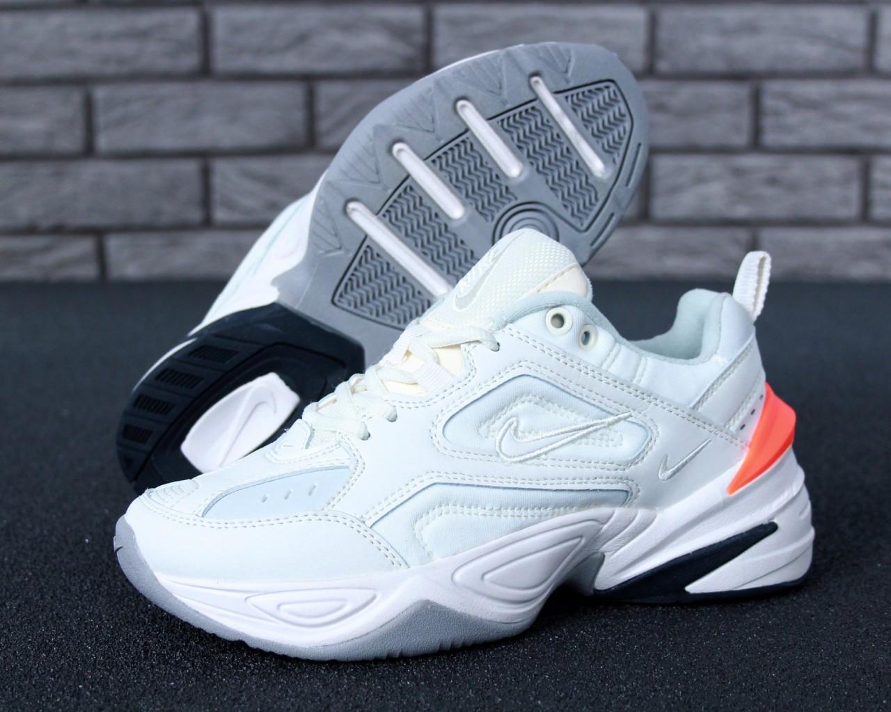 Кроссовки женские Nike M2K Tekno White Orange heel