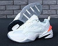 Кроссовки женские Nike M2K Tekno White Orange heel, фото 1