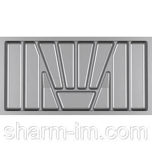 Лоток для столових приладів Verso 900 мм Сірий 830x430x42 мм